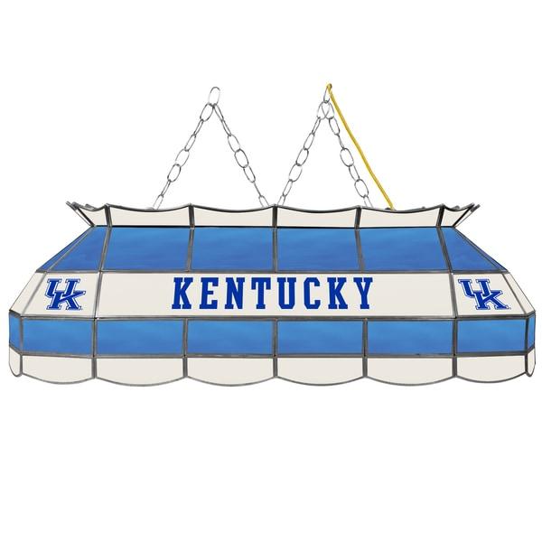 University of Kentucky Handmade Tiffany Style Lamp - 40 Inch - Blue