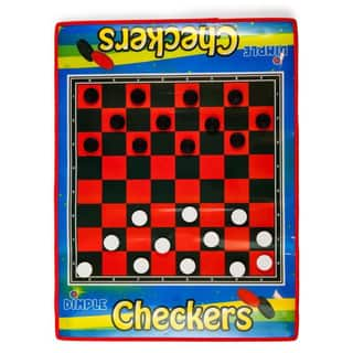 Dimple - 2 Player Life Size Checkers Mat/Board with Big Black & White Checker Pieces|https://ak1.ostkcdn.com/images/products/10664316/P17729723.jpg?impolicy=medium