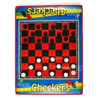 Dimple DC11967 - 2 Player Life Size Checkers Mat/Board with Big Black & White Checker Pieces