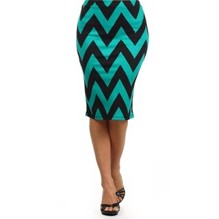 MOA Collection Women's Plus Size Chevron Striped Skirt