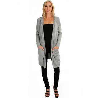 Women's Long-Line Hooded Cardigan