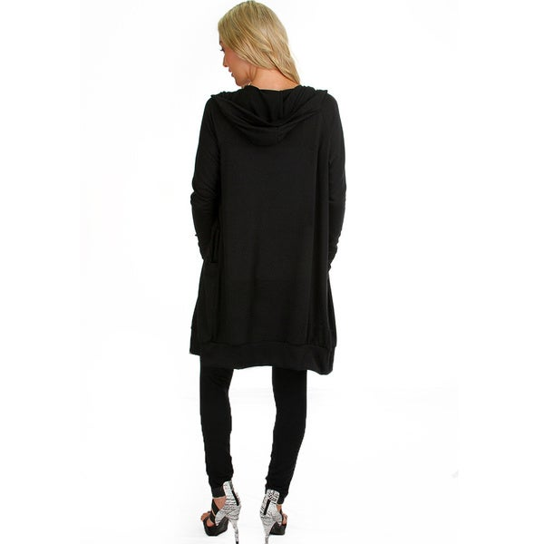 Women's Long-Line Hooded Cardigan - Free Shipping On Orders Over ...