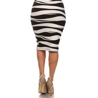 MOA Collection Women's Plus Size Zebra Print Skirt