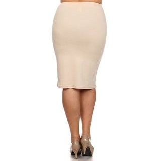 MOA Collection Women's Plus Size High Waist Pencil Skirt (More options available)