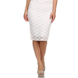 MOA Collection Women's Plus Size Lace Skirt