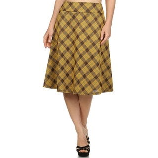 MOA Collection Women's Plus Size Knee-Length Skirt