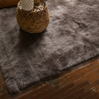 Jungle Sheep Skin Brown Rug (2'0 x 3'0)