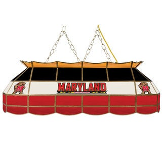Maryland University Stained Glass 40 Inch Tiffany Lamp