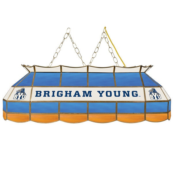 BYU Stained Glass 40 Inch Tiffany Lamp