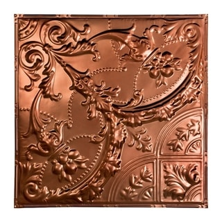 Great Lakes Tin Saginaw Vintage Bronze 2-foot x 2-foot Nail-up Ceiling Tile (Carton of 5)