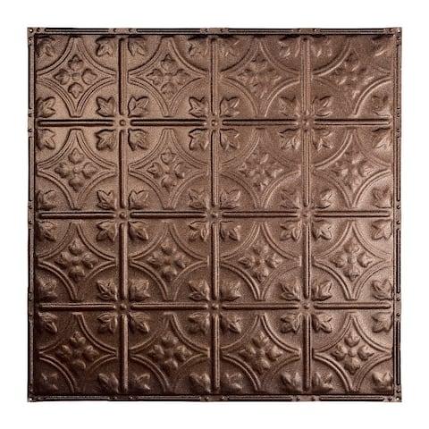 Great Lakes Tin Hamilton Penny Vein 2-foot x 2-foot Nail-up Ceiling Tile (Carton of 5)