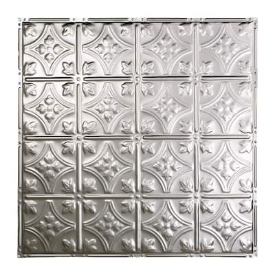 Great Lakes Tin Hamilton Unfinished 2-foot x 2-foot Nail-up Ceiling Tile (5 Pack)