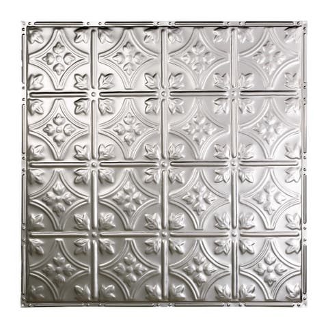 Great Lakes Tin Hamilton Unfinished 2-foot x 2-foot Nail-up Ceiling Tile (Carton of 5)