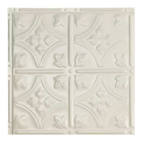 Great Lakes Tin Hamilton Antique White 2-foot x 2-foot Nail-up Ceiling Tile (5 Pack)