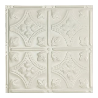 Great Lakes Tin Hamilton Antique White 2-foot x 2-foot Nail-up Ceiling Tile (Carton of 5)
