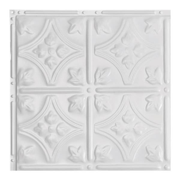 Great Lakes Tin Hamilton Gloss White 2 Foot X 2 Foot Nail Up Ceiling Tile Carton Of 5 Overstock 10664455
