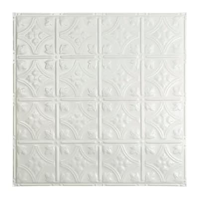 Great Lakes Tin Hamilton Gloss White 2-foot x 2-foot Nail-up Ceiling Tile (5 Pack)