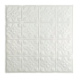 Great Lakes Tin Hamilton Gloss White 2-foot x 2-foot Nail-up Ceiling Tile (Carton of 5)