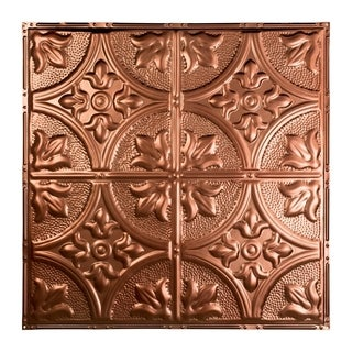 Great Lakes Tin Jamestown Vintage Bronze 2-foot x 2-foot Nail-up Ceiling Tile (Carton of 5)