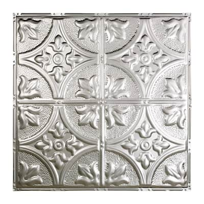 Great Lakes Tin Jamestown Clear 2-foot x 2-foot Nail-up Ceiling Tile (5 Pack)