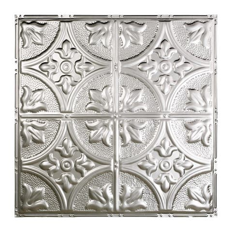 Great Lakes Tin Jamestown Clear 2-foot x 2-foot Nail-up Ceiling Tile (Carton of 5)