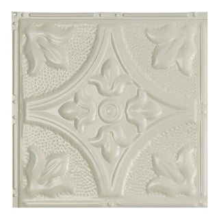Great Lakes Tin Jamestown Antique White 2-foot x 2-foot Nail-up Ceiling Tile (Carton of 5) (2 options available)