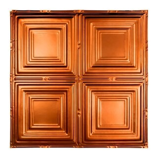Great Lakes Tin Syracuse Copper 2-foot x 2-foot Nail-up Ceiling Tile (Carton of 5)
