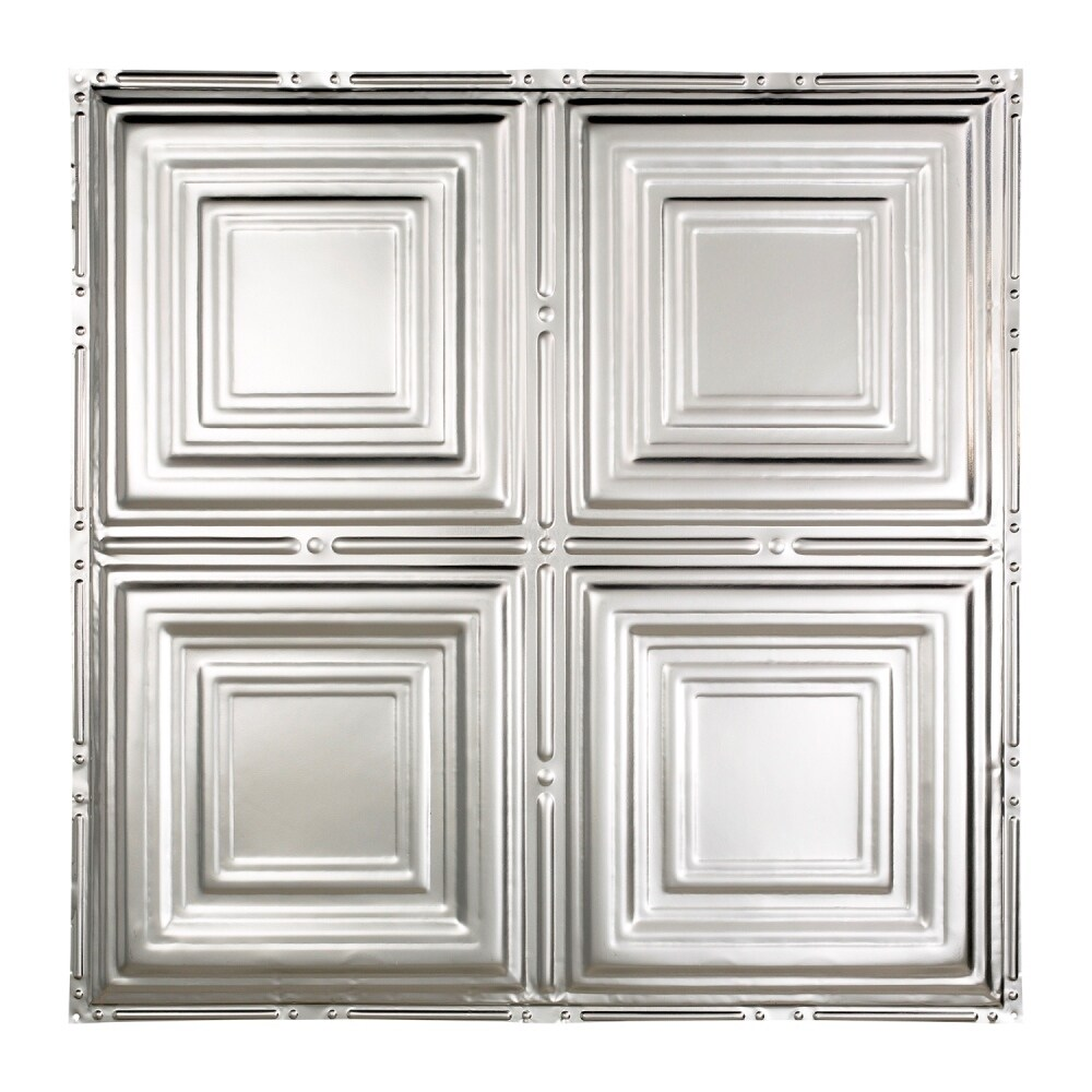 Great Lakes Tin Syracuse Clear 2 Foot X 2 Foot Nail Up Ceiling Tile Carton Of 5 Overstock 10664472 Sample