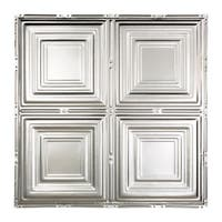 Great Lakes Tin Syracuse Clear 2-foot x 2-foot Nail-up Ceiling Tile (Carton of 5)