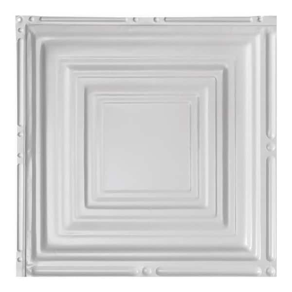 Great Lakes Tin Syracuse Gloss White 2 Foot X 2 Foot Nail Up Ceiling Tile Carton Of 5 Overstock 10664477