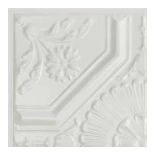 Great Lakes Tin Rochester Matte White 2-foot x 2-foot Lay-in Ceiling Tile (Carton of 5)