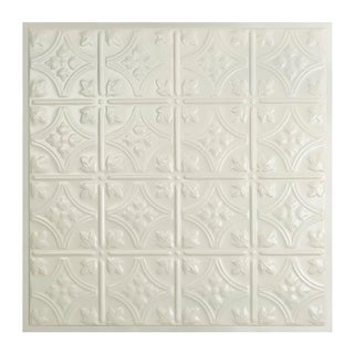 Great Lakes Tin Hamilton Antique White 2-foot x 2-foot Lay-in Ceiling Tile (Carton of 5)