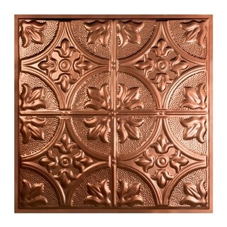 Great Lakes Tin Jamestown Vintage Bronze 2-foot x 2-foot Lay-in Ceiling Tile (Carton of 5)