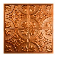 Great Lakes Tin Jamestown Copper 2-foot x 2-foot Lay-in Ceiling Tile (Carton of 5)