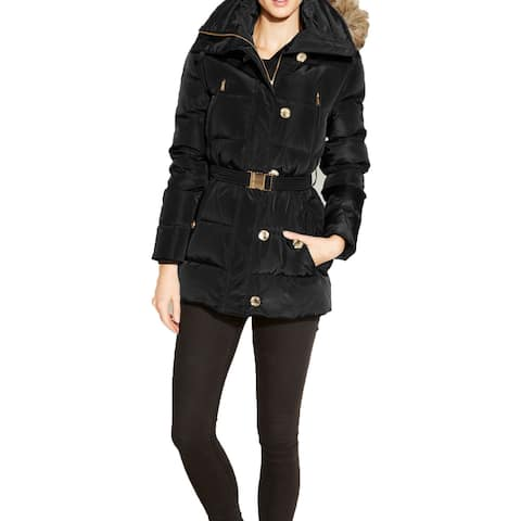 Michael Michael Kors Black Down Puffer Hooded Coat