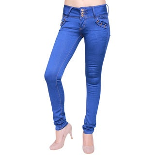 Sexy Couture Women's S107-ps Mid-rise Skinny Jeans