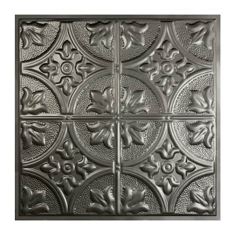 Great Lakes Tin Jamestown Argento 2-foot x 2-foot Lay-in Ceiling Tile (Carton of 5)