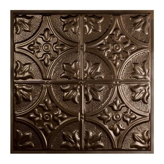 Great Lakes Tin Jamestown Bronze Burst 2-foot x 2-foot Lay-in Ceiling Tile (Carton of 5)