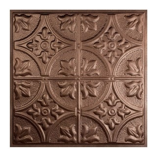 Great Lakes Tin Jamestown Penny Vein 2-foot x 2-foot Lay-in Ceiling Tile (Carton of 5)