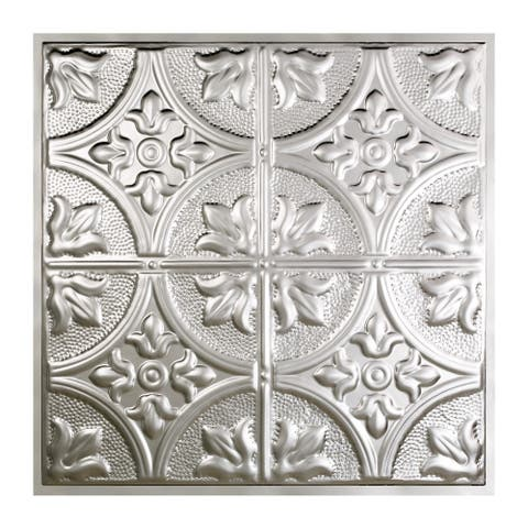 Great Lakes Tin Jamestown Clear 2-foot x 2-foot Lay-in Ceiling Tile (5 Pack)