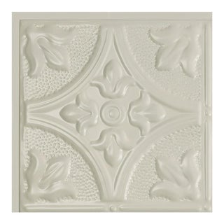 Great Lakes Tin Jamestown Antique White 2-foot x 2-foot Lay-in Ceiling Tile (Carton of 5)
