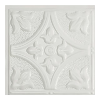 Great Lakes Tin Jamestown Matte White 2-foot x 2-foot Lay-in Ceiling Tile (Carton of 5)