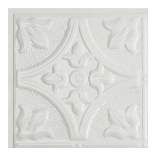 Great Lakes Tin Jamestown Matte White 2-foot x 2-foot Lay-in Ceiling Tile (Carton of 5) (2 options available)