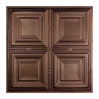 Great Lakes Tin Syracuse Penny Vein 2-foot x 2-foot Lay-in Ceiling Tile (Carton of 5)