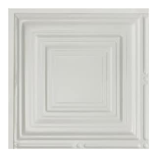 Great Lakes Tin Syracuse Matte White 2-foot x 2-foot Lay-in Ceiling Tile (Carton of 5)
