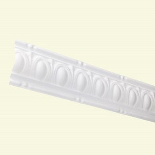 Great Lakes Tin Huron Gloss White 27-inch Crown Molding (Carton of 10)