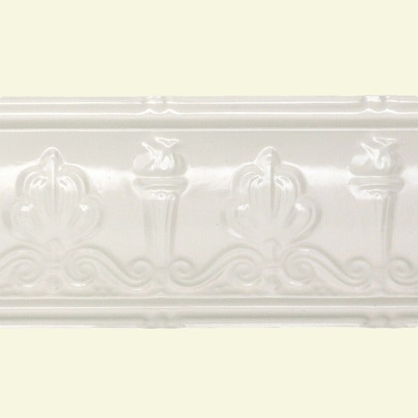 Great lakes tin superior antique white 48 inch crown for 9 inch crown molding