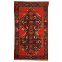 Herat Oriental Afghan Hand-knotted Tribal Balouchi Wool Rug (2'8 x 4'5) - 2'8 x 4'5