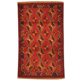 Handmade One-of-a-Kind Balouchi Wool Rug (Afghanistan) - 2'8 x 4'7