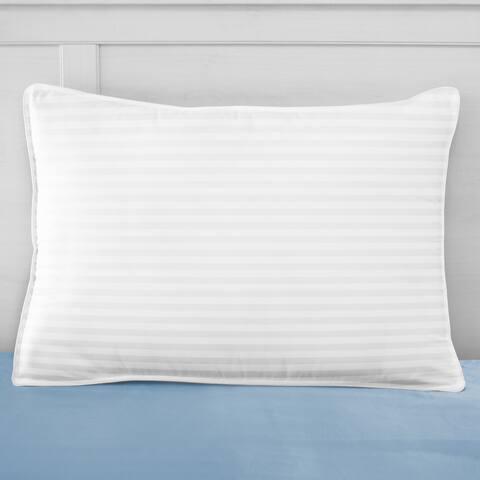 SwissLux 500 Thread Count European-Style Dual Comfort Memory Foam and Gel-Fiber Pillow